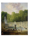 Washerwomen in a Park Reproduction procédé giclée par Hubert Robert