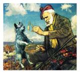 Greyfriars Bobby and Auld Jock Giclee Print by John Millar Watt