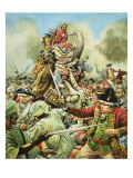 The Battle of Arcot Giclee Print by C.l. Doughty