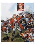 George Ii at Dettingen, 1981 Giclee Print by Clive Uptton