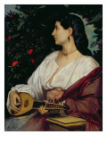 The Mandolin Player, 1865 Giclee Print by Anselm Feuerbach