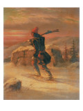 Indian Hunter in the Snow Giclee Print by Cornelius Krieghoff