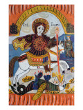 Saint George and the Dragon Giclee Print by Serbian School 