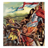 The Queen Who Went on a Crusade Giclee Print by Ron Embleton