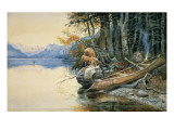 A Camp Site by the Lake, 1908 Giclee Print by Russell