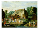 Gentry at a Peasant Dance Giclee Print by Jan Van, The Elder Kessel