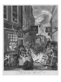 Times of the Day, Night, 1738 Giclee Print by William Hogarth