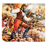 Defending the Alamo Giclee Print by C.l. Doughty