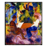 At the Garden Table, 1914 Giclee Print by August Macke