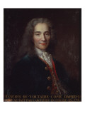 Portrait of Voltaire Premium Giclee Print by Catherine Lusurier