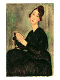 Portrait of a Young Woman Giclee Print by Modigliani