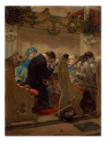 Christmas Prayers, 1872 Giclee Print by Henry Bacon