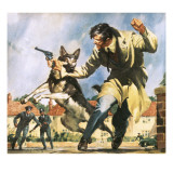Alsatian Police Dog Giclee Print by  McConnell