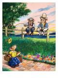 Town Mouse and Country Mouse Giclee Print by  Mendoza