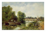 The Bridge at Henley-On-Thames Giclee Print by Frederick Waters Watts