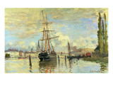 The Seine at Rouen, 1872 Reproduction procédé giclée par Claude Monet