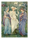 Ensigns of Spring, 1894 Giclee Print by Walter Crane