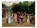 An Attentive Audience Giclee Print by Charles Louis Kratke