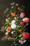 Still Life of Flowers Premium Giclee Print by Jan Davidsz. de Heem