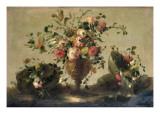 Mixed Flowers in a Gilt Goblet Giclee Print by  Guardi