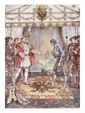 Bayard Presented to Henry Viii Giclee Print by Herbert Cole