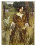 The Lady Clare, C.1900 Premium Giclee Print by John William Waterhouse