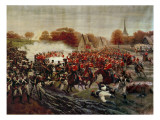 Cossacks Charging the Guns Giclee Print by Rosen