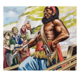 A Pirates with Captives Giclee Print by Ron Embleton