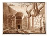 Emissarium of Lake Albano, 1833 Giclee Print by Agostino Tofanelli