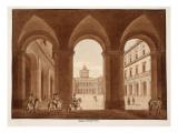 Palazzo Del Quirinale, 1833 Giclee Print by Agostino Tofanelli
