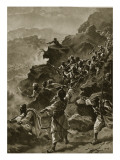 A Raid by the Afridis Giclee Print by Henry Payne