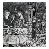 Lazarus at the Rich Man's Gate Giclee Print by  French School