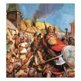 The Vikings: the Sea-Warriors Giclee Print by  English School