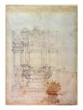 Inv. L859 6-25-823. R. Premium Giclee Print by  Michelangelo Buonarroti