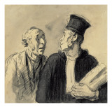 The Lawyer and His Client Reproduction procédé giclée par Honore Daumier