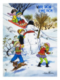 Where Snow Comes From Giclee Print by Jesus Blasco