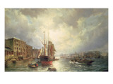The Pool of London, 1861 Giclee Print by Christiaan Cornelis Dommelshuizen