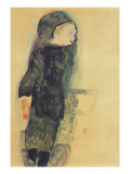 Child in a Black Dress, 1911 Giclee-vedos tekijänä Schiele