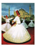 Whirling Dervishes Premium Giclee Print by Robert Brook