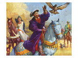 King Henry Viii Hunting Giclee Print by  McConnell