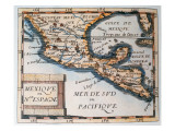 Map of Mexico or New Spain, 1625 Premium Giclee Print by  French School