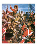Storming of the Eureka Stockade Premium Giclee Print by Clive Uptton