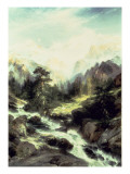 In the Teton Range, 1899 Premium Giclee Print by  Moran