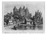 The Castle of Combourg Premium Giclee Print by Felix Benoist
