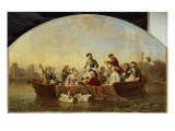 Boat Trip in Rheinsberg Giclee Print by Theobald Reinhold von Oer