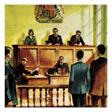 Justice of the Peace or Jp Giclee Print by  Escott