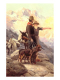 The Mountain Hunt, 1917 Giclee Print by Frank Tenney Johnson