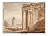 The Temple of Faustina, 1833 Giclee Print by Agostino Tofanelli