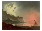 Vesuvius from Posillipo Giclee Print by Joseph Wright of Derby