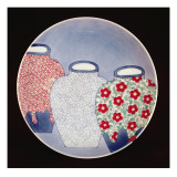 Nabeshima Dish, Edo Period Reproduction procédé giclée par Japanese School
